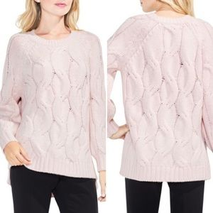 Vince Camuto chunky cable sweater in pink
